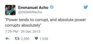 Emmanuel Acho Tweet