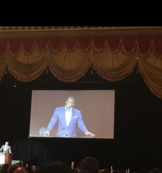Cam Newton speaking at BBBS NY Dinner